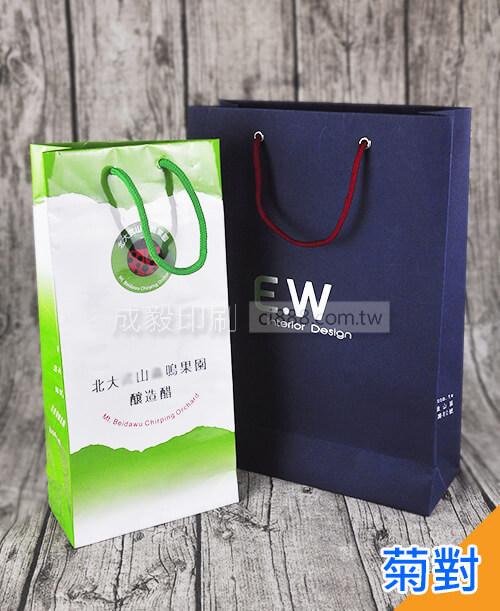 高雄印刷 - 手提紙袋菊對(寬20x高32cm)-手提袋設計印刷