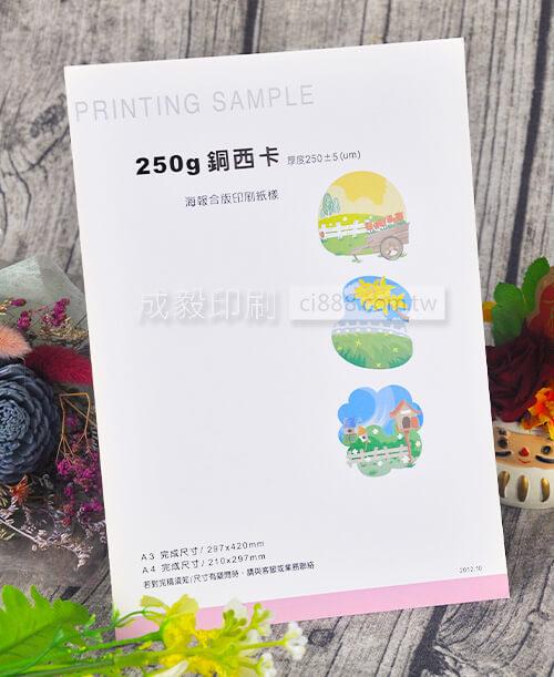 高雄印刷 - A4 250P銅西卡-海報設計印刷