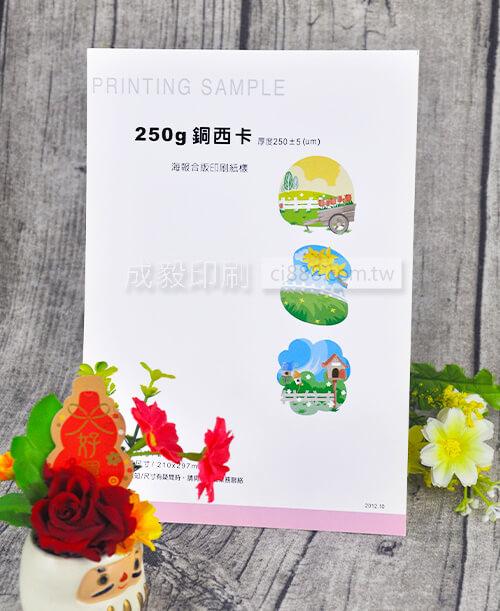高雄印刷 - A3 250P銅西卡-海報設計印刷