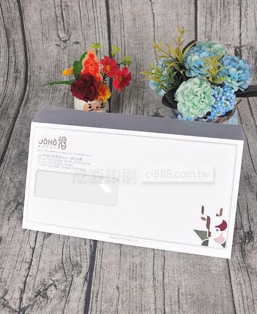 高雄印刷 - 歐式12K開窗彩色信封-信封設計印刷