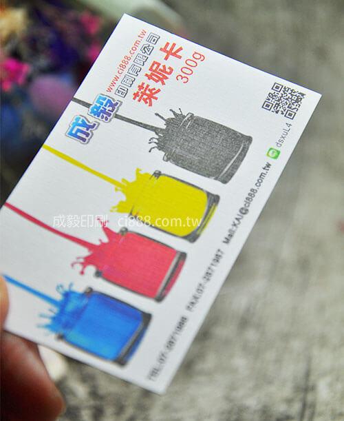 高雄印刷 - 萊妮卡名片-300p名片印刷設計