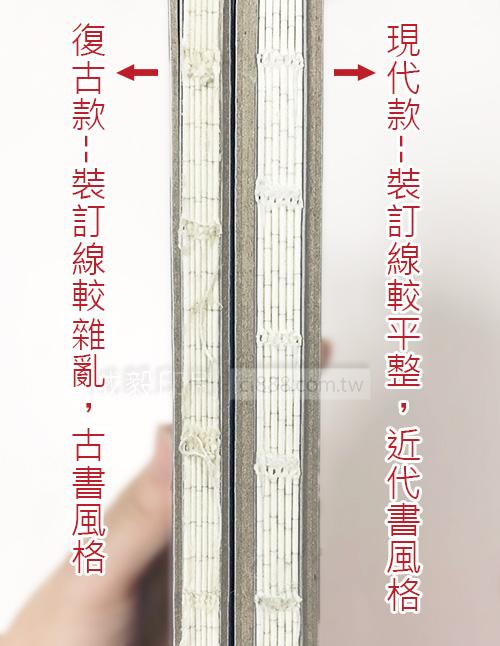 硬殼手冊 筆記本 記事本 日誌 型錄 仿古書 古書 手帳 菜單 裸裝 裸背穿線膠裝